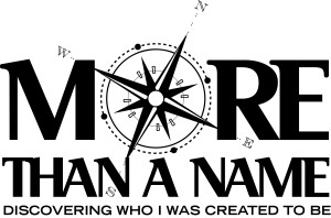 "logo for theme ""More Than a Name"""